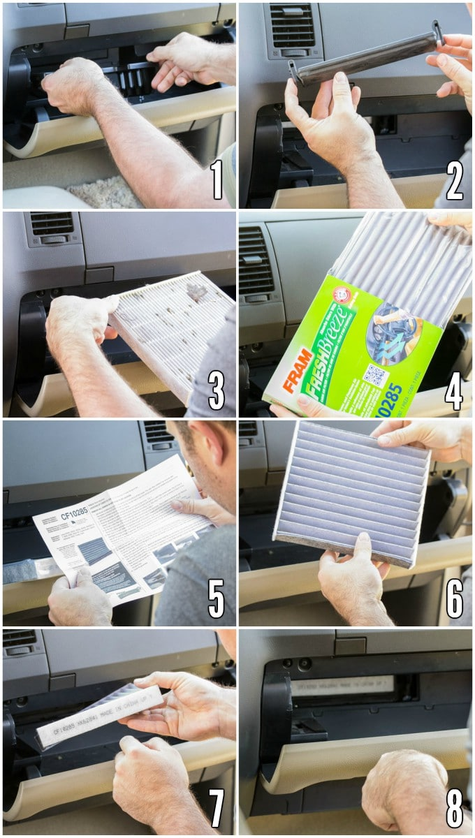 How to change a FRAM cabin air filter in the Toyota Tundra