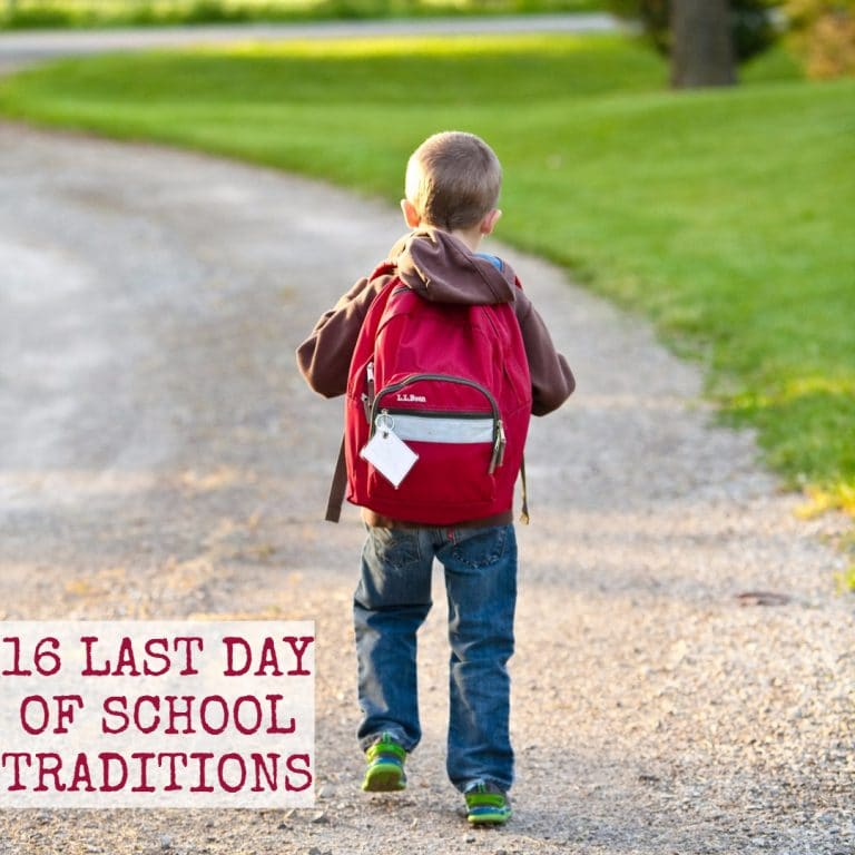 last day of school traditions square