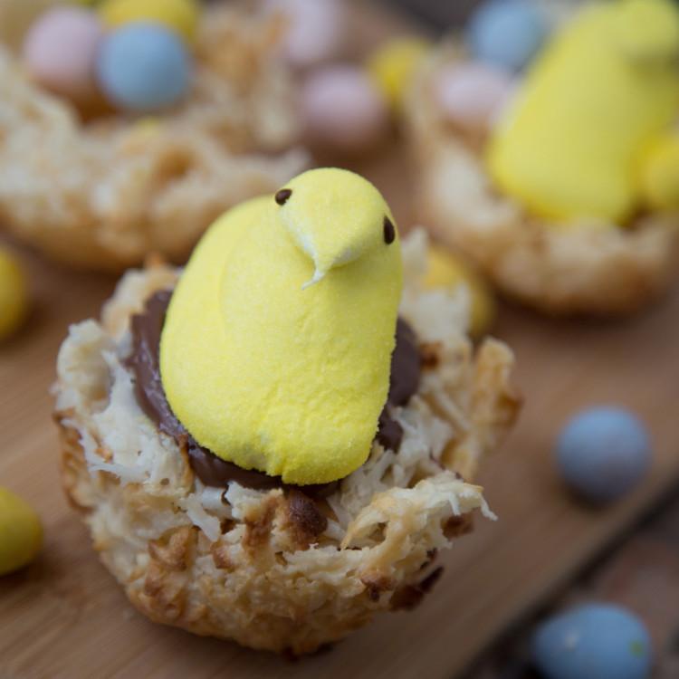 Easter Peeps Coconut Macaroons
