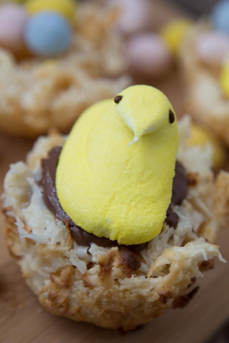 Easter Peeps Coconut Macaroons - a fun Easter treat for the kids!