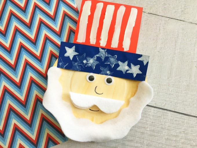 Uncle Sam Paper Plate Craft for the 4th of July