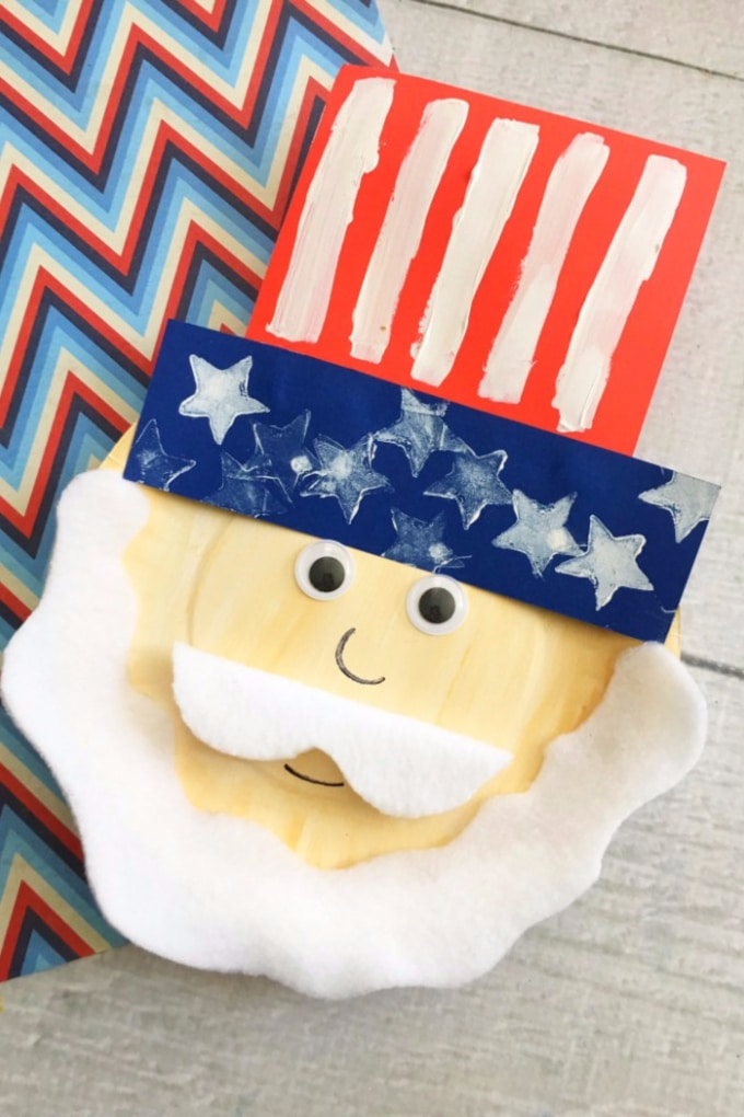 Patriotic Kids Craft: Uncle Sam