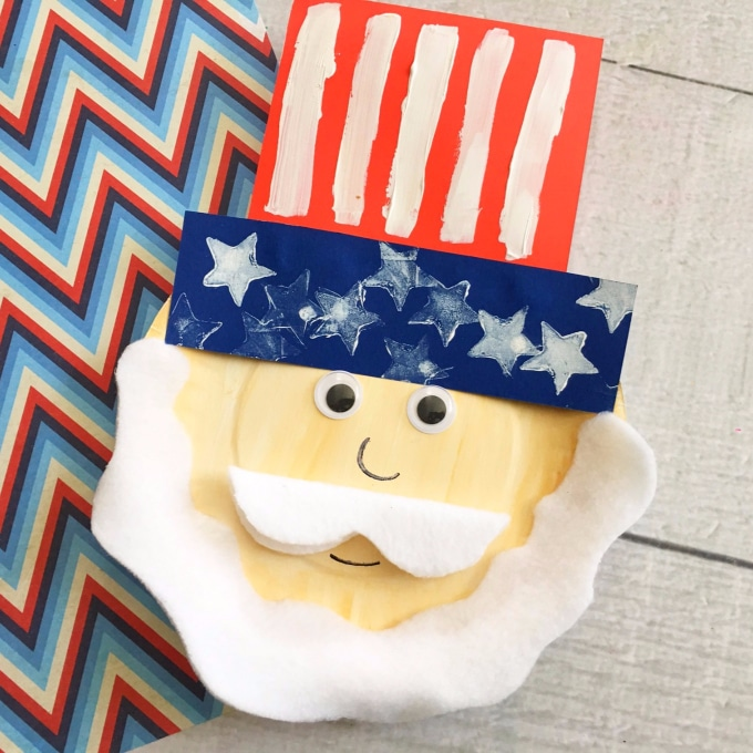 uncle sam patriotic paper plate craft