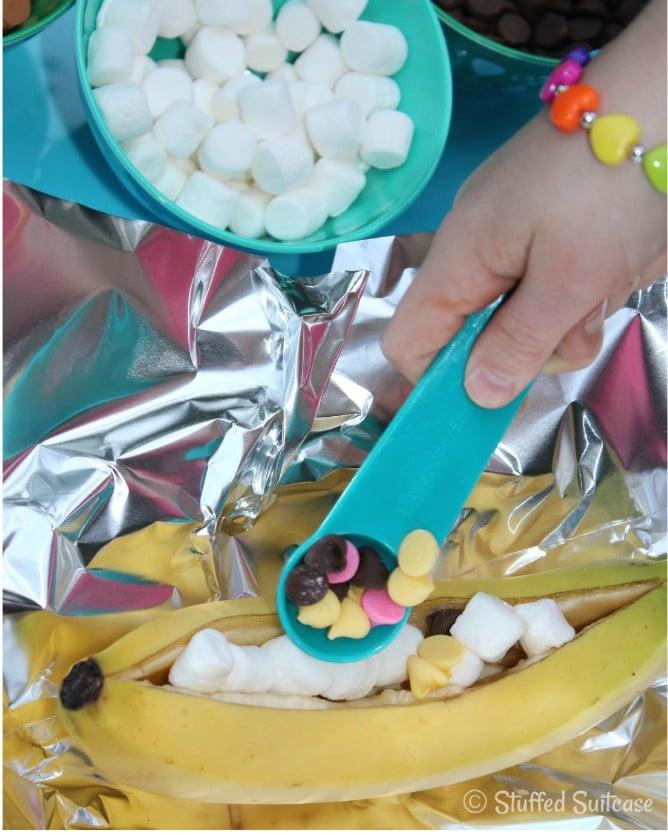 campfire banana splits