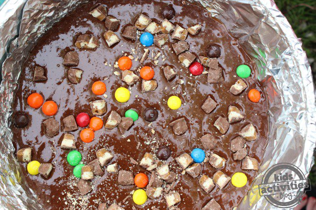 loaded campfire brownies
