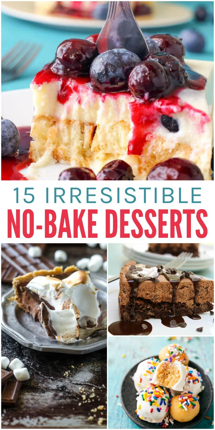 15 Irresistible No Bake Dessert Recipes