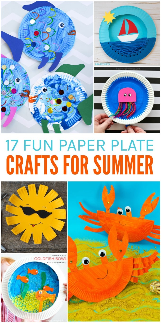 17 Fun Paper Plate Crafts For Summer Glue Sticks And Gumdrops