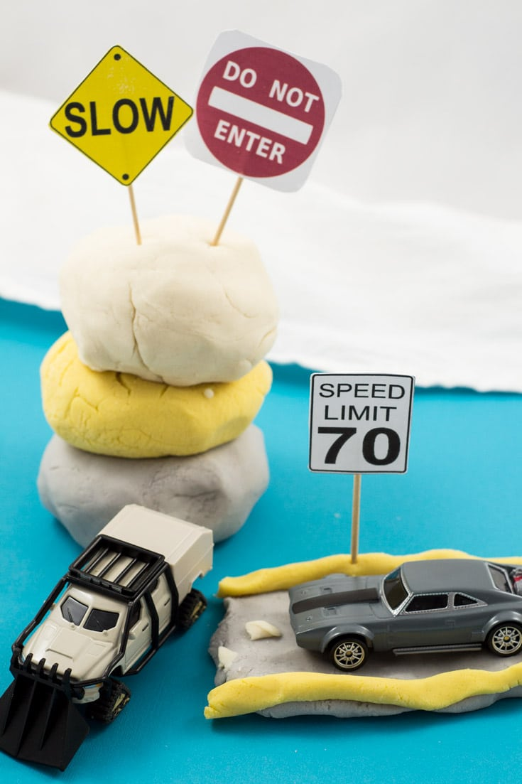 Road Themed Homemade Play Dough