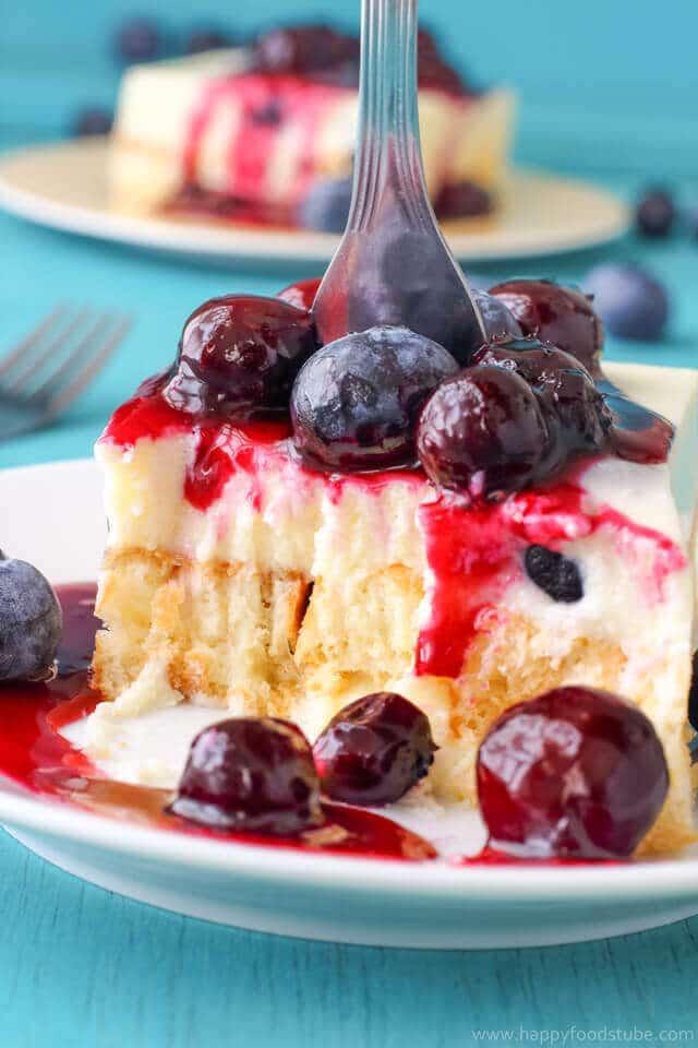 blueberry waffle cake
