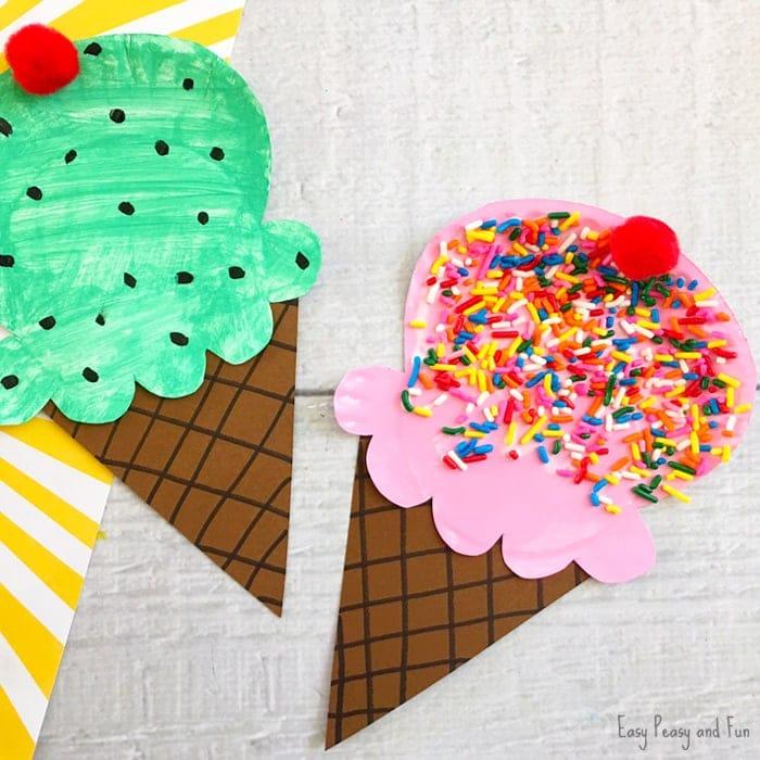 ice cream summer paper plate crafts
