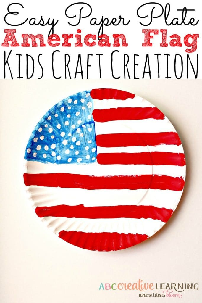 american flag paper plate craft idea