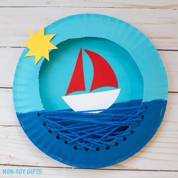 beautiful paper plate boat craft