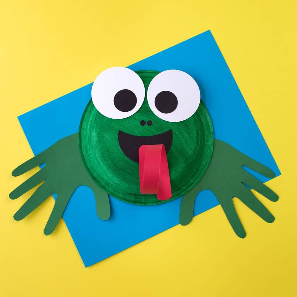frog paper plate craft idea