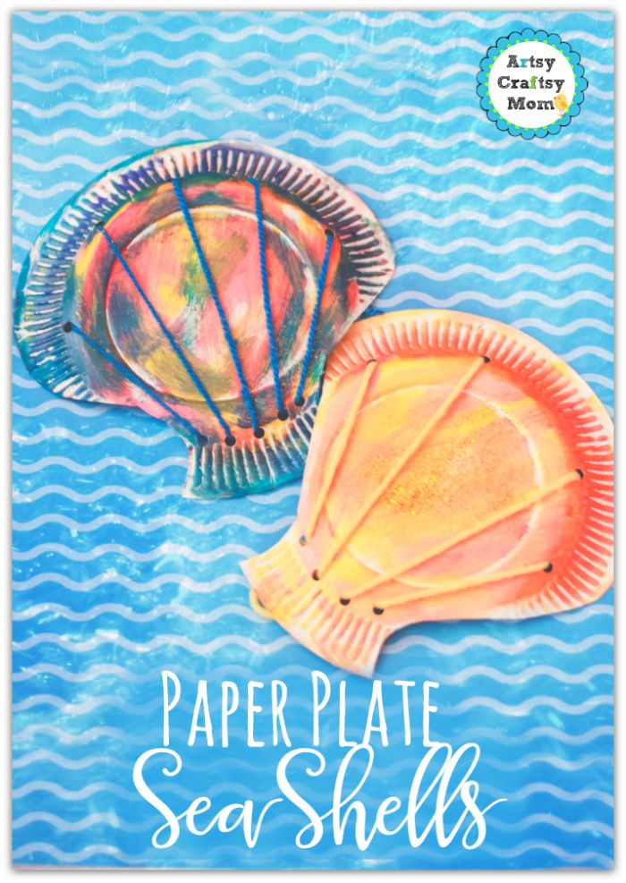 seashells made from paper plates