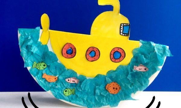 submarine paper plate craft that rocks