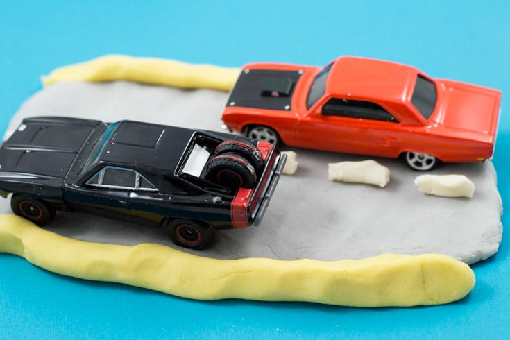 Road Themed Playdough