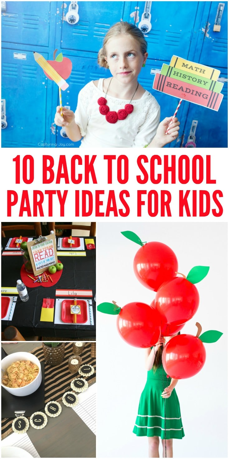 10 Fun Back to School Party Ideas