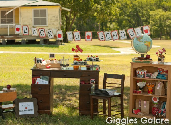 Book themed back to school party by Giggles Galore