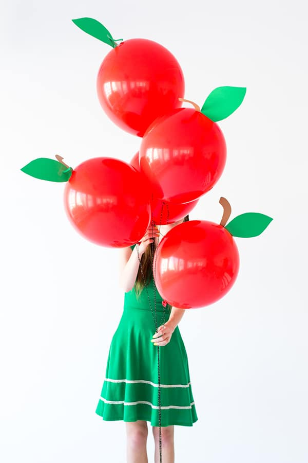 diy apple balloons from Studio DIY