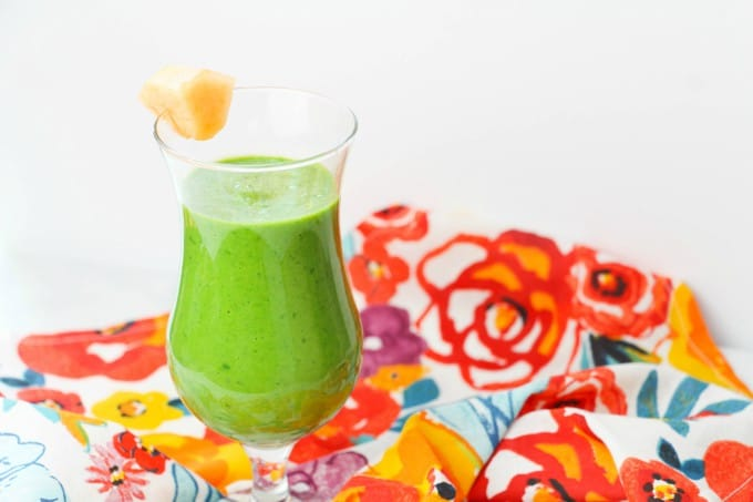 green cantaloupe smoothie drink