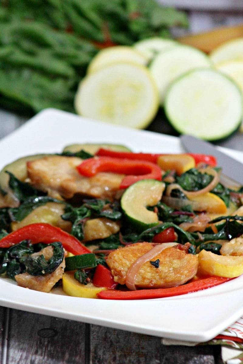 low carb chicken and swiss chard recipe
