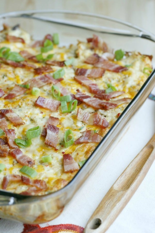 low carb chicken loaded potato casserole