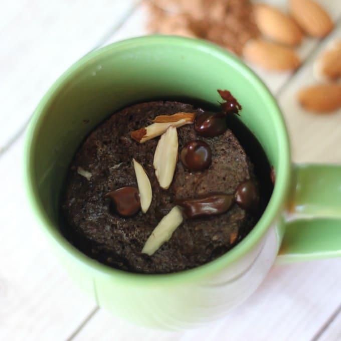 Double Chocolate Almond Low Carb Mug Cake