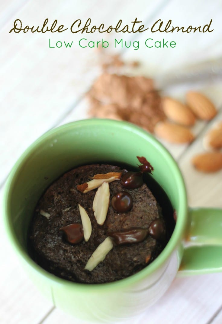 Double Chocolate Almond Low Carb Mug Cake