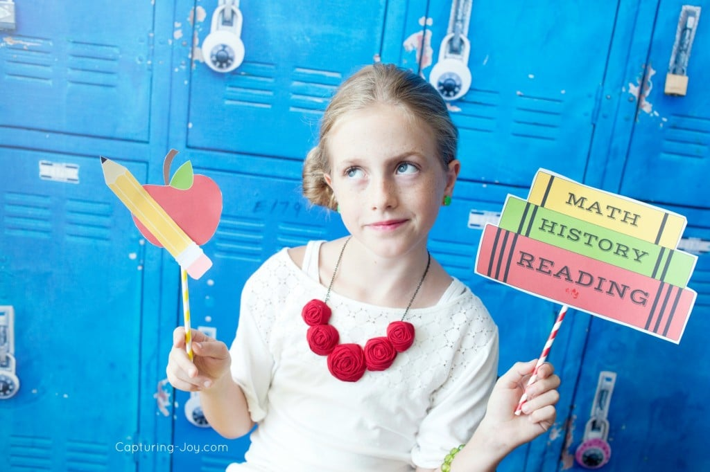 back to school photo props from Capturing Joy