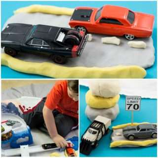 Road Themed Homemade Playdough