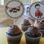 Printable Vampire Halloween Cupcake Toppers