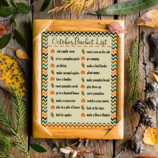 ideas for a October bucket list