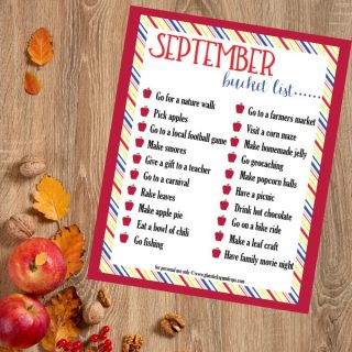 Fall Fun September Bucket List for Families