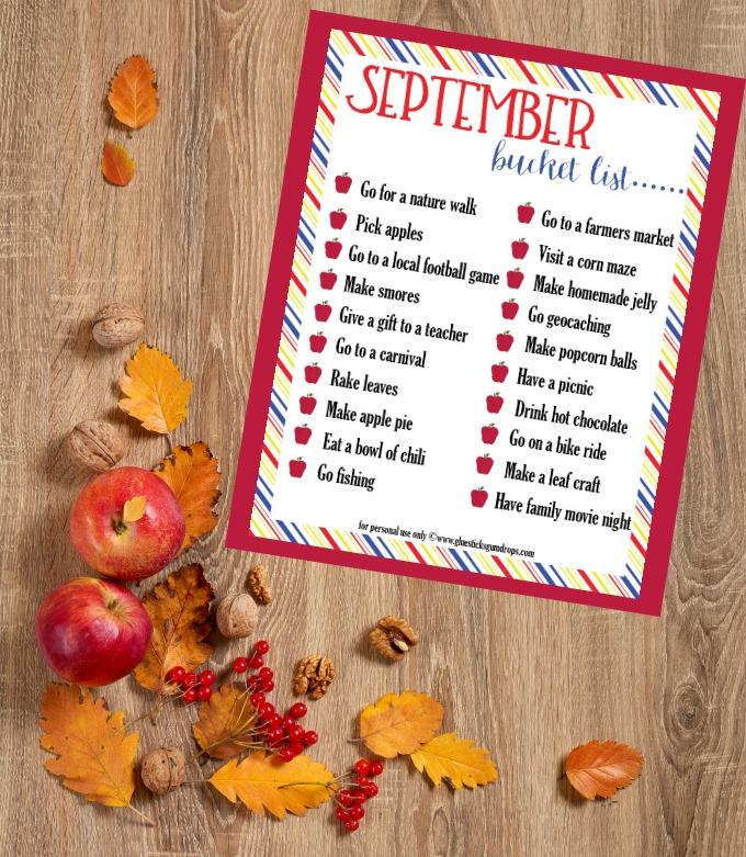 fun September bucket list