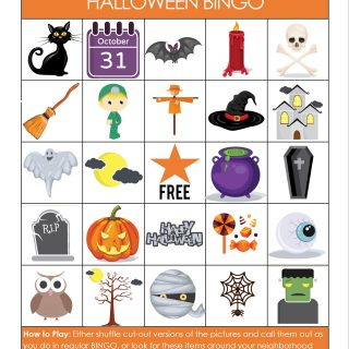 Printable Halloween Bingo Game