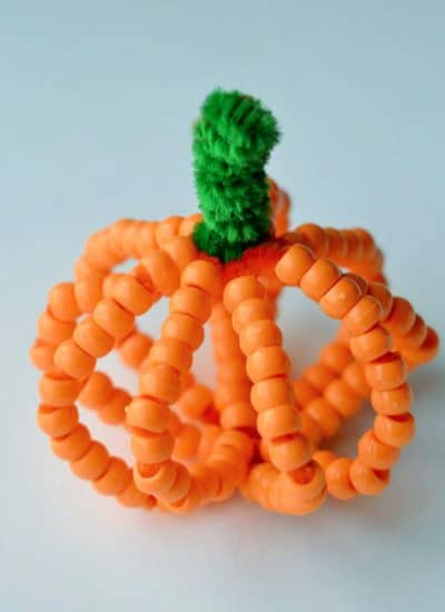 Beaded Pumpkin Craft for Kids