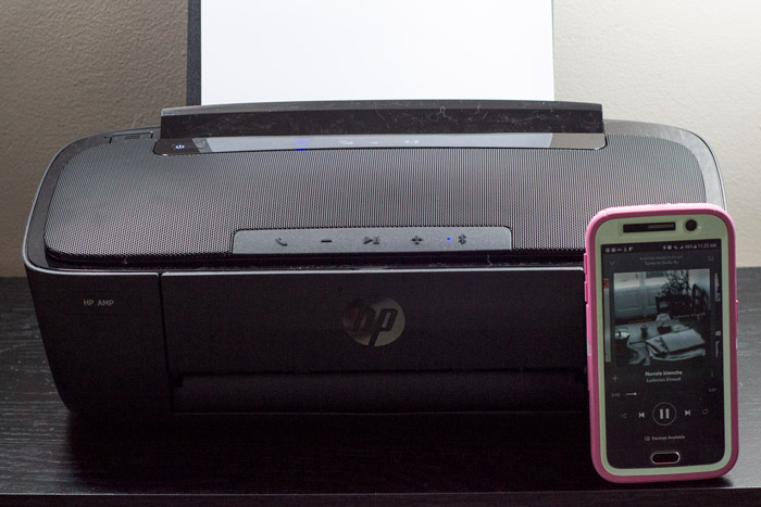hp amp printer that plays music