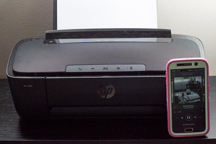 hp amp printer that plays music