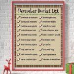 December Bucket List Pin