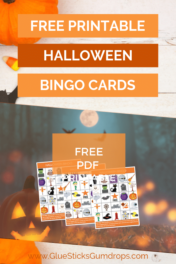 Free Printable Halloween Bingo Cards - perfect for your Halloween Party this year!