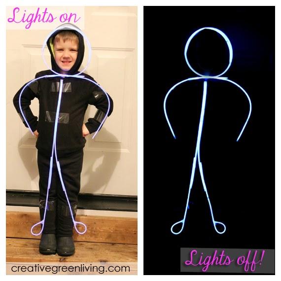 glowing stick man