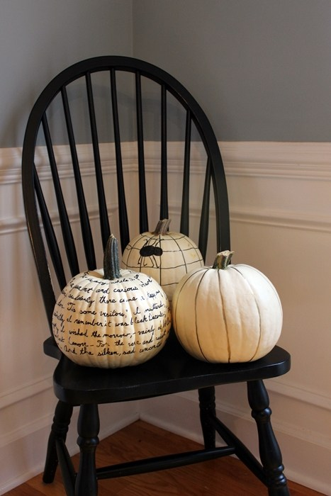 sharpie themed pumpkins