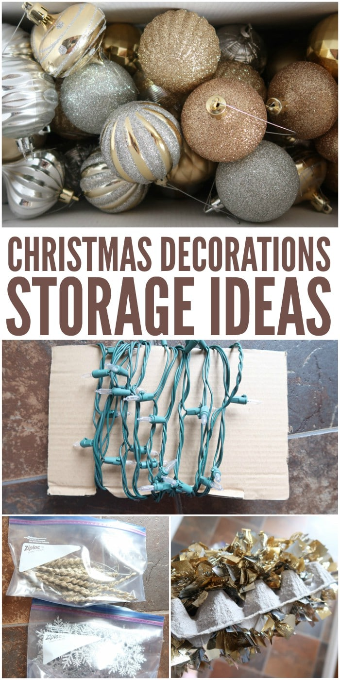 Christmas Decorations Storage Ideas and Tips & Christmas Decorations Storage Tips and Ideas for Lights and Ornaments