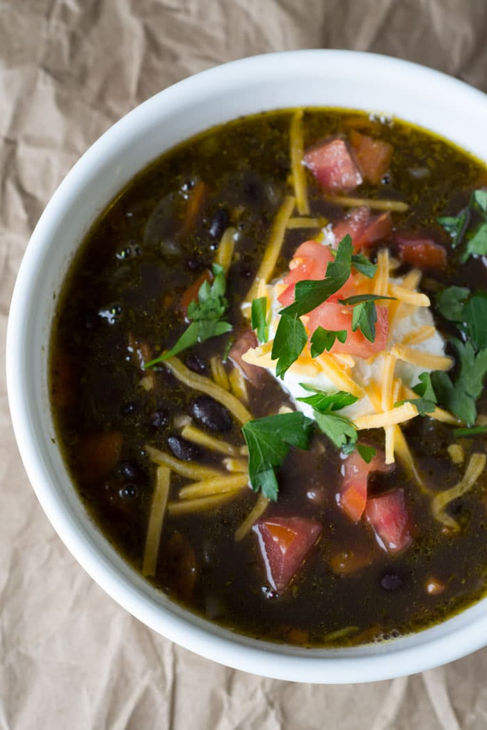 Spicy Black Bean Soup Recipe for a quick weeknight meal