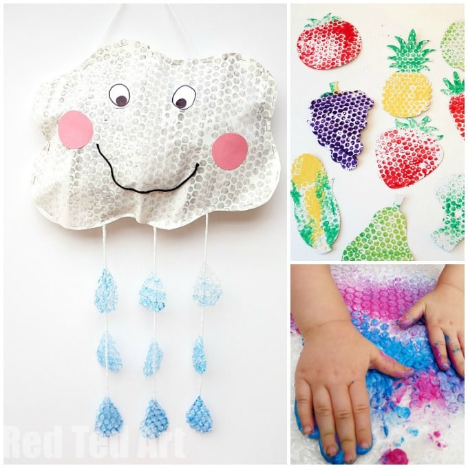 fun bubble wrap art ideas
