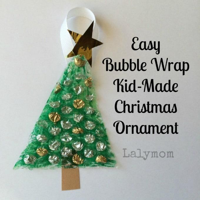 kid made christmas ornament