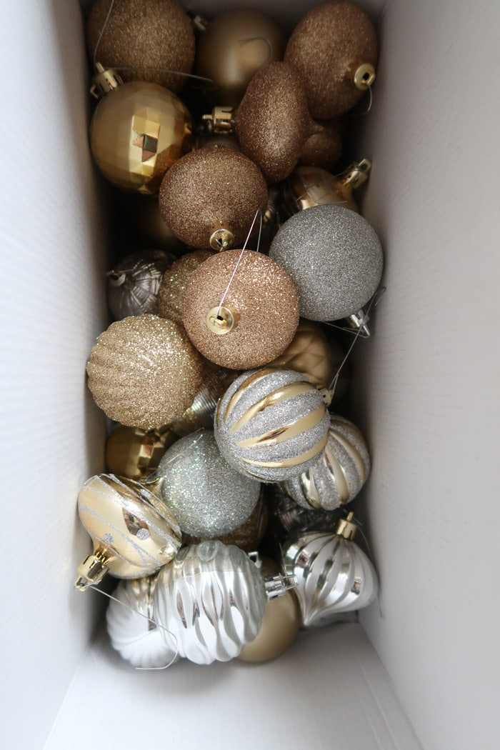 Christmas ornament organization ideas