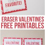 Eraser Valentines - a cute non-candy option for valentine's day!