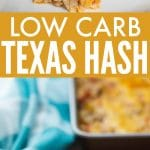 Low Carb Texas Hash with Cauliflower and Ground Turkey