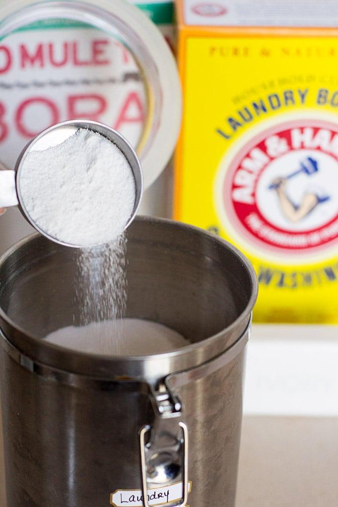 3 Ingredient Homemade Laundry Detergent Powder Recipe